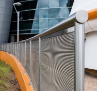 Custom exterior railing for the Kennedy Space Center.