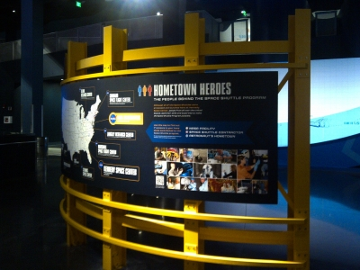 Exhibit signage at the Kennedy Space Center.