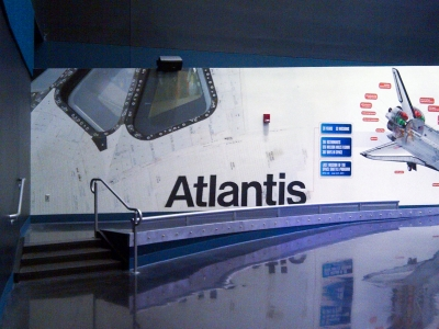 Atlantis Exhibit with custom-fabricated glass.