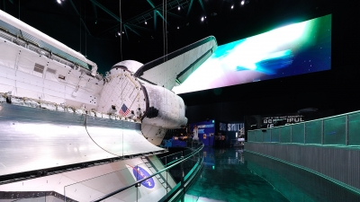 Rail design for the Atlantis Exhibit by Poma.