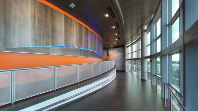 Custom interior metalwork for the Kennedy Space Center.