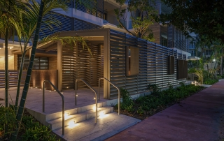 Photo of the Louver House designed by Rene Gonzalez for Mast Capital.