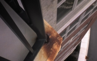 How to prevent guardrails from rusting.