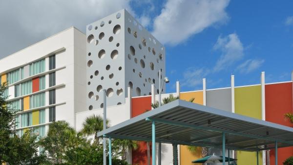 Cabana Bay facade by Poma.