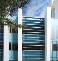 Westin Facade and Parking Structure featuring Poma metal and glass systems.