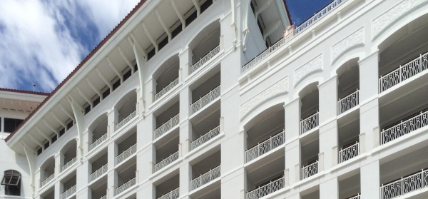 Baha Mar in Nassau, the Bahamas featuring custom metal guardrail exports by Poma.