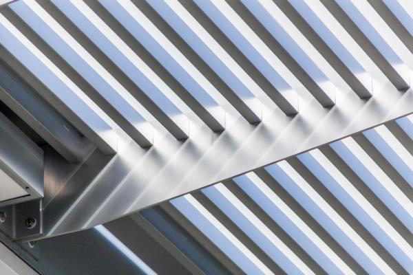 Photo of the Braman Motors Showroom sunshade canopy by Poma.