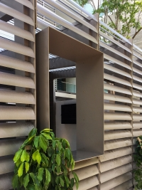 Louver House featuring custom-fabricated and installed louvers by Poma.