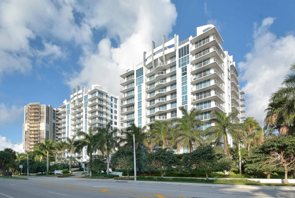 Sapphire Residence with Poma-fabricated custom rail systems, in Fort Lauderdale, FL