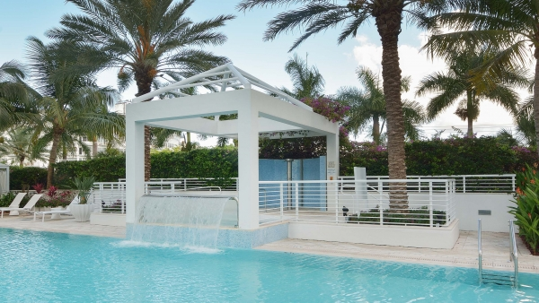 Photo of a trellis canopy, fabricated in Florida