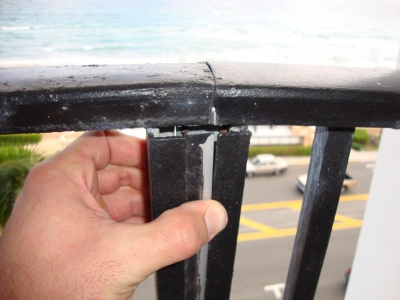 Steel posts can allow moisture into a closed system, creating a corrosive reaction to spur concrete failures below.