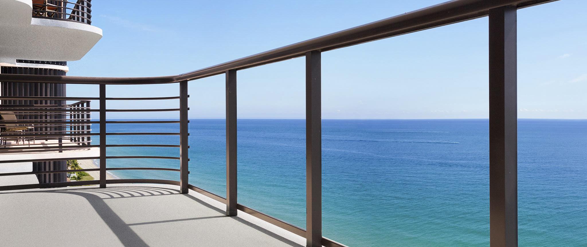 Boca Raton guardrail fabrication for the Marbella Condominiums.