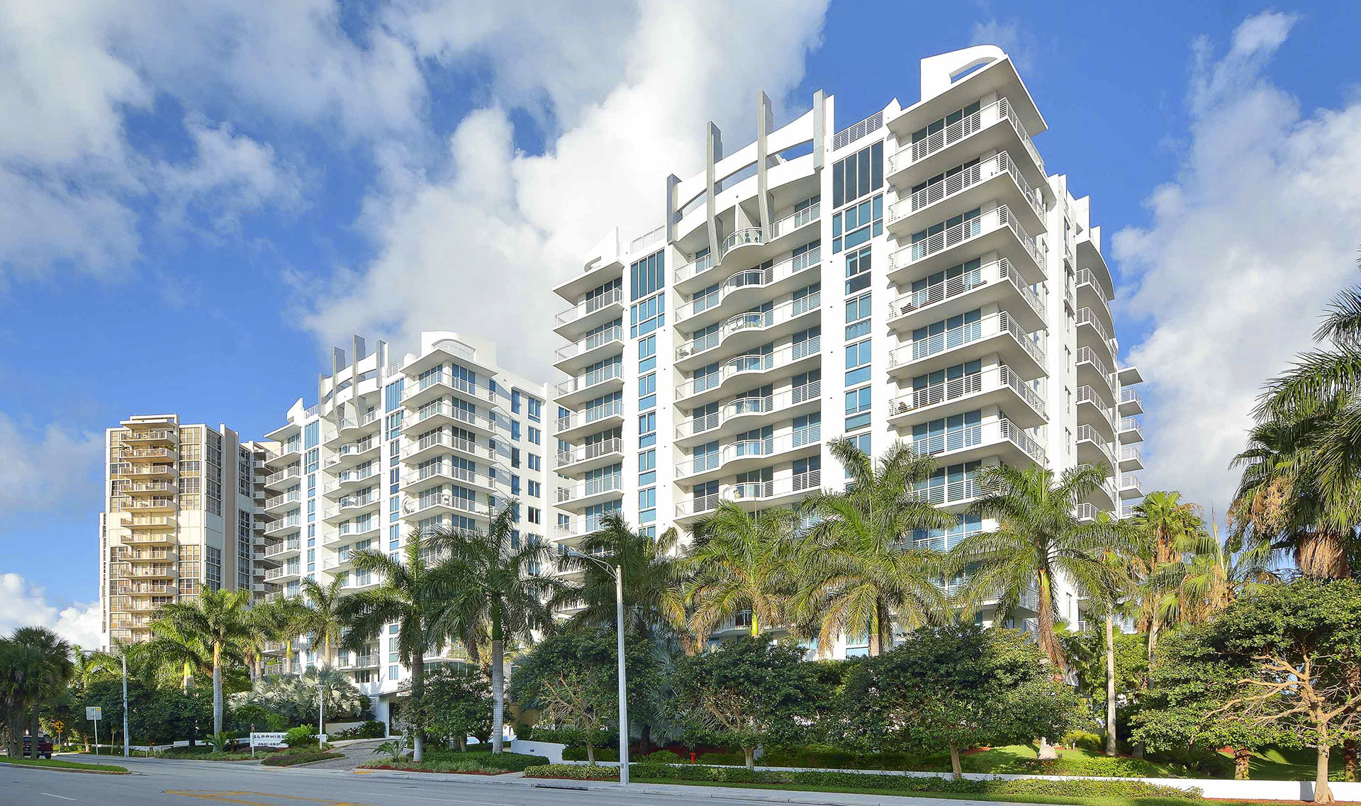 Ft. Lauderdale guardrail fabrication for the Sapphire Residences.