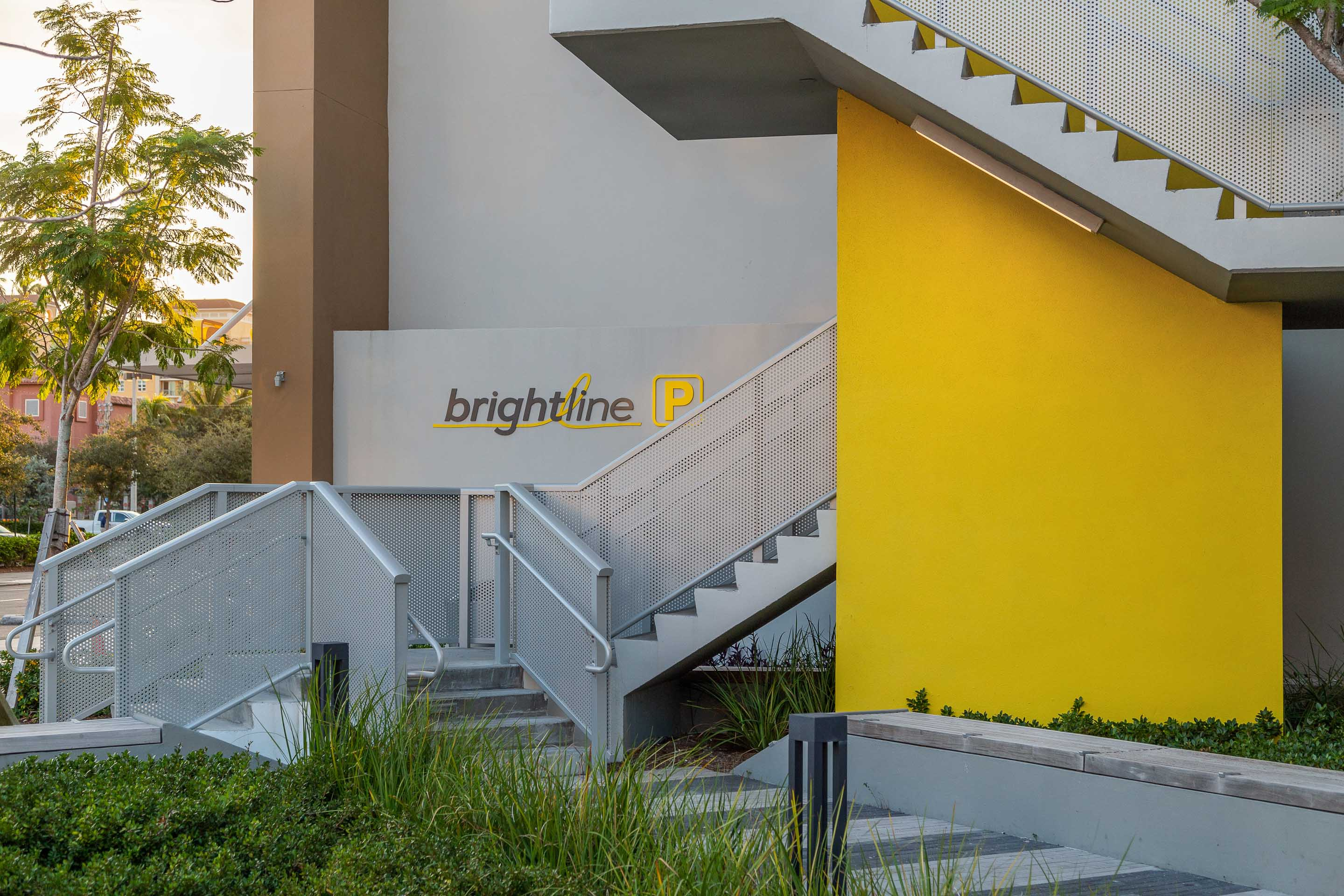 Perforated parking garage for Park-Line Palm Beaches at Brightline West Palm Beach Station.