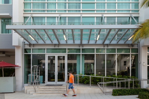 Marriott Surfside: Custom glass and metal fabrication by Poma